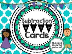 Subtraction Clip Cards {Numbers to 10}