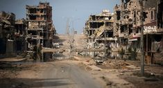 General view of buildings ravaged by fighting in Sirte, Libya (File)'No One Else Can Do That': Italy Seeks Russia's Help in Resolving Libyan Crisis