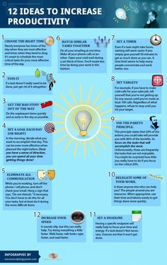 increase productivity tips guide infographic