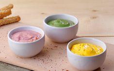 Τρίο μαγιονέζας (χωρίς αβγό) με βάση το γιαούρτι Cantaloupe, Dips, Fruit, Cooking, Breakfast, Food, Sauces, Greek, Dressing