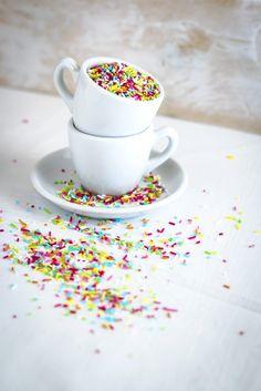 Biscotti di Carnevale - biscotti arcobaleno - sprinkles cookies recipe
