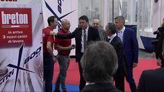 Matteo Renzi visit Breton's stand