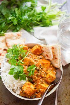 Pan fried tofu and tender black lentils are simmered in spicy  Mein Blog: Alles rund um Genuss & Geschmack  Kochen Backen Braten Vorspeisen Mains & Desserts!