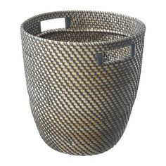 use as waste basket    RÅGKORN Plant pot IKEA Plastic inside the pot makes the plant pot waterproof. With handles for easy mobility.