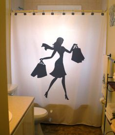 Naked lady shower curtain