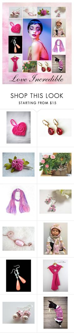"""""""Love Incredible: Stunning Valentine Gift Ideas in Pink"""" by paulinemcewen on Polyvore featuring Cadeau, rustic, vintage and country"""