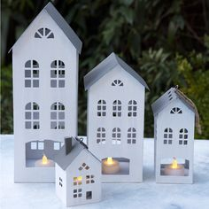 Amsterdam Tall House Tealight Holder from Rex London - the new name for dotcomgiftshop. Christmas Interiors, Christmas Home, Christmas Crafts, Christmas Ornaments, Festive Crafts, Xmas, Nordic Christmas, Decorating With Christmas Lights, Christmas Decorations
