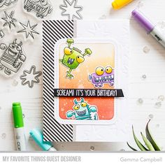 There's a new @mftstamps Wednesday sketch challenge today. My inspiration card, as guest designer for sketch 367, features the awesome new Monster Sized stamps and dies . . . . . #mftstamps #mftsketchchallenge #clearstamps #stamping #craft #crafting #handmadecards #handmade #handmadecard #cardmaking #cardmaker #papercraft #papercrafts #papercrafting #greetingcards #diecutting #diecuts #handmadewithlove #instacraft #makersgonnamake #creativelifehappylife #createeveryday #createmakeshare…