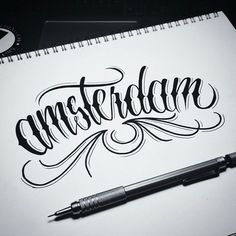 Instagram media by typographyinspired - 'Amsterdam' - A Stunning sketch by @stanleyshane! // ( #typographyinspired #typography #type #graphicdesign #graphics #design #designer #inspire #inspiration #illustration #handdrawn #lettering #calligraphy #sketch