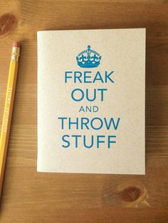 Gifts for best friends: freak out and throw stuff journal via Cool Mom Picks.
