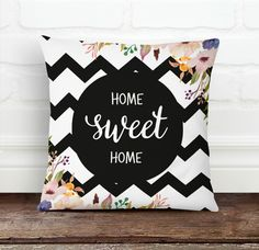 Home Sweet Home Pillow Cover from Decorart Design by DaWanda.com