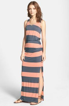 Splendid 'Luna Lake' Stripe Racerback Maxi Dress | Nordstrom
