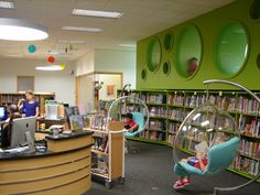 Elementary School Library Decorations | snapshot from the Upper Elementary Library at HKIS
