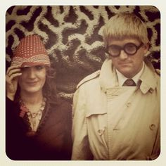 celia birtwell and david hockney by peter schlesinger