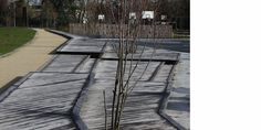Christian LARROQUE Architectes ASSOCIES  Parc Jehan Buhan - Gradignan Architecture Paysage Sidewalk, Senior Living Homes, Urban Planning, Architects, Park, Sidewalks, Pavement, Walkways