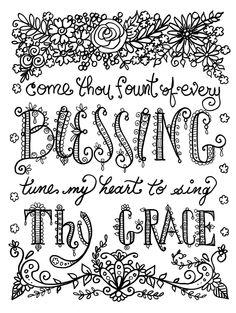 HymnSpirations Coloring Book Page Prayer Inspirational Spiritual