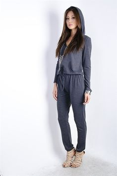Alexis Hooded Jumpsuit (   Colors )