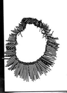 Black heat shrink tubes #contemporary #jewelry