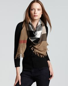Burberry Color Check Wool Scarf - Scarves & Wraps - Hats, Scarves & Gloves - Accessories - Jewelry & Accessories - Bloomingdale's