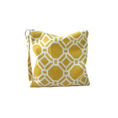 Hexagon Yellow Pouch