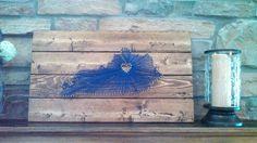 Lexington, Kentucky Nail String Wood Wall Art    University of Kentucky  Large 23x16x2  For Sale on ETSY at KKsSouthernCharmShop