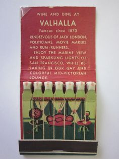 Sally Stanford's Valhalla Inn, Sausalito, CA #feature #matches