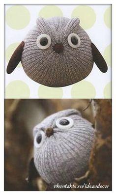 Sock owl <3