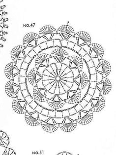 Clippedonissuu From Crochet Motif: - Diy Crafts - DIY & Crafts Motif Mandala Crochet, Crochet Mandala Pattern, Crochet Diagram, Crochet Stitches Patterns, Crochet Chart, Filet Crochet, Crochet Round, Crochet Squares, Crochet Dollies