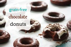 Grain-Free Chocolate Donuts ~ for Mary n' Lisa. Mary does love a good pirate or tim donut now and again.