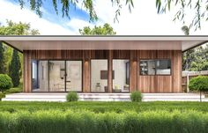 Explore Garden Studios' gallery of granny flats in Melbourne — See our latest finished projects, designs & home renovations. Garden Studio, Home Studio, Granny Flat Plans, Aluminium Windows And Doors, External Cladding, Flat Interior, Flat Ideas, House Extensions, Flat Roof