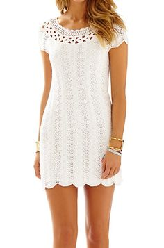 Lilly Pulitzer Everly Short Sleeve Sweater Dress in Resort White
