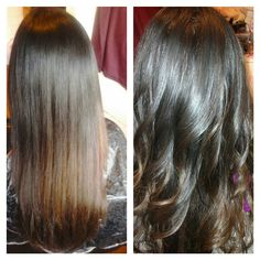 Healthy Hair Is Beautiful Hair..: Before and After pic.. Copper lowlights on brown hair color