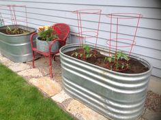Look what I did:) my tomatoes now have a great home to grow in.