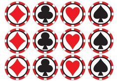 24 Card Suit Poker Chips Casino Night Edible Cupcake Toppers Icing or Wafer Vegas Casino, Las Vegas, Poker Cake, Circle Cake, America Cake, Edible Cupcake Toppers, Edible Printing, Happy Birthday Cake Topper, Paper Cupcake