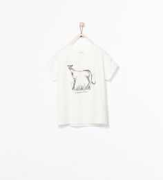 Image 1 de T-SHIRT IMPRIMÉ ANIMAL BRILLANT de Zara