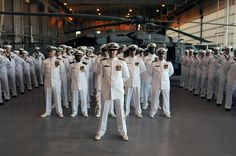 Sailors stand in formation. by Official U.S. Navy Imagery, via Flickr