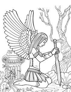 783 best Fantasy Coloring Pages for Adults images on Pinterest ...