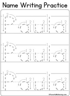 Custom Name Tracing Worksheet Kindergarten Handwriting, Kindergarten Names, Preschool Names, Kindergarten Anchor Charts, Preschool Literacy, Kindergarten Classroom, Preschool Ideas, Classroom Ideas, Kindergarten Readiness