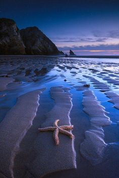 Twilight Seascape - The Muses of Sintra, Portugal. All Nature, Amazing Nature, Landscape Photography, Nature Photography, Digital Photography, Photography Tips, Beach Scenes, Ocean Beach, Blue Beach