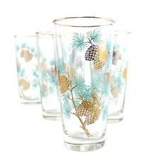 Turquoise Pine Glasses
