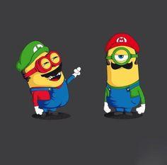 Hahaha mario and luigi minion