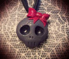 Skull Necklace by honeycreeperjewelry on Etsy
