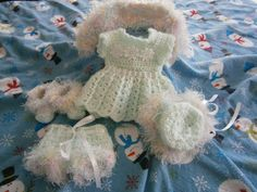 10 inch Baby Reborn 5 pc Mint Green Dress Set by GillKnits on Etsy, $12.45