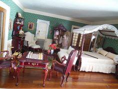 Hofco Federal Victorian Dollhouse master bedroom