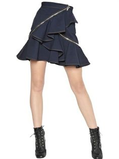 Givenchy Ruffled Cotton Drill Skirt on shopstyle.com