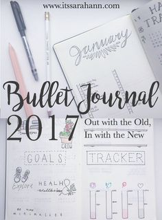 Bullet Journal 2017 Setup! Starting afresh with a new journal. Goals, Tracking, Weekly Log, January Monthly log