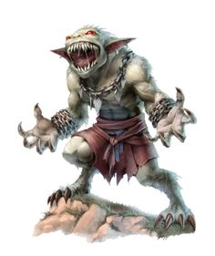Male greater barghest warpriest of Hadregash - Azlowe - ironfang Invasion - Pathfinder PFRPG DND D&D d20 fantasy