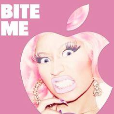 NICKI MINAJ!! Bite me, apple sign. :)