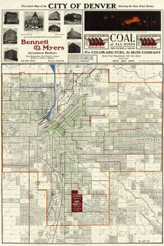 Denver Zip Code Map, 2008, USPS, Env. Mgmt. Thematic, Instrument ...