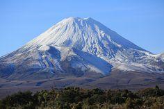 Mt Ngaruhoe World Heritage Tongariro National Park New Zealand